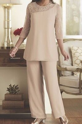 Formal Dress Wedding Mother of the Bride Groom Bridesmaid Pant Suit Set Women's