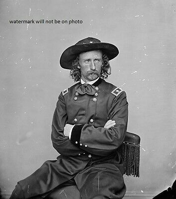 "Portrait of General George A. Custer 8""x 10"" Civil War Photo Picture #156"