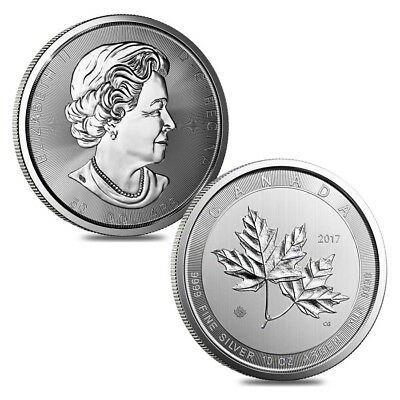 Lot of 2 - 2017 10 oz Canadian Magnificent Silver Maple Leaf .9999 Fine $50 Coin