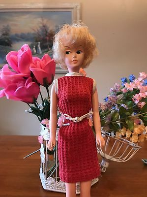 Vintage 1960s Mary Makeup Doll With Original Dress , American Character, Tressy