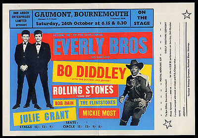 Rolling Stones Repro 1963 Bournemouth 26 October Concert Tour Poster .not Cd Dvd