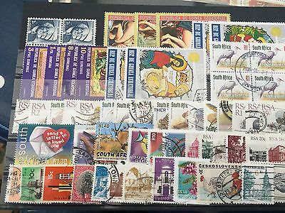 African country stamps lot on stock cards incl miniature sheets