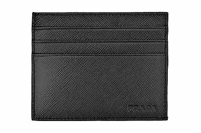 New In Box Authentic PRADA Black Saffiano Leather Wallet Credit Card Holder