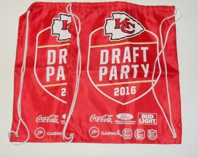 KC Kansas City Chiefs Kingdom Promo SGA Giveaway Draft Party Draw String  Bag STH 1dab98981698