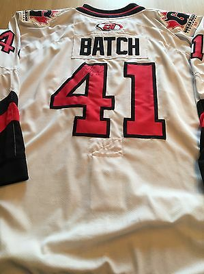 Cardiff Devils Game Worn Ice Hockey Jersey Shirt Josh Batch