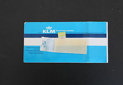 KLM Royal Dutch Airlines - Original Airline Flight Ticket 1986 Used
