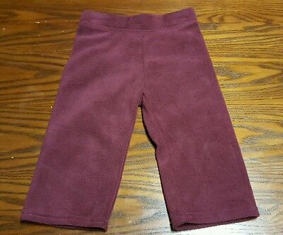 Nwt Old Navy Girls Size 12-18 Months Maroon Red Fleece Pants