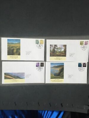 G.B FDC Country Pictorials All 4 Covers 27/03/07 S/H/S