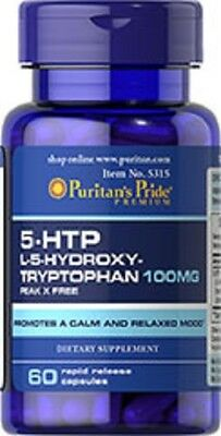 5-HTP 100mg x60 caps 5 HTP 5HTP  PURITANS PRIDE FREE SHIPPING 24HR DISPATCH