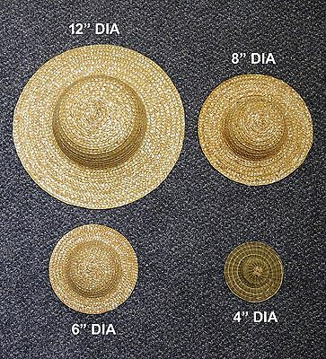 26 STRAW HATS VARIOUS SIZES Easter bonnet hat for art craft fancy dress unused
