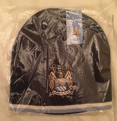 Manchester City FC Football Club Knitted Beanie Hat Navy Adult Size