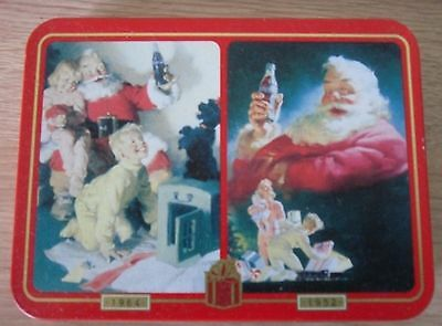 Coca-Cola  Collector Tin,1996, Featuring Advertisements from 1964 & 1952