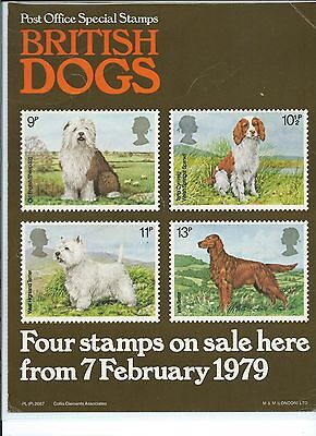 wbc. - GB - ROYAL MAIL POSTERS - A4 - 1979 - DOGS - MINOR FAULTS