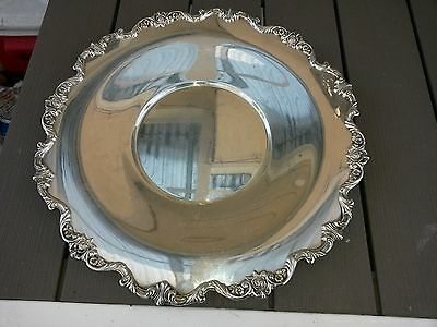 Antique Wallace Baroque Silver Plate Serving Platter Vegetable Dish Footed  14""