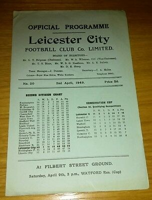 Leicester City v Grimsby Town  2/4/49