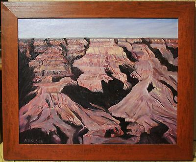 """Vintage Acrylic Painting On Board - """"Grand Canyon"""" - Signed By Nicholas Susick"""