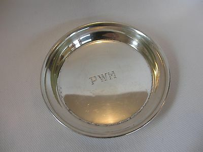 Vintage International Sterling Silver Cocktail Coaster Or Nut / Candy Dish Tray