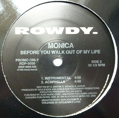 """Monica - Before You Walk Out Of My Life - 12"""" Promo Vinyl"""