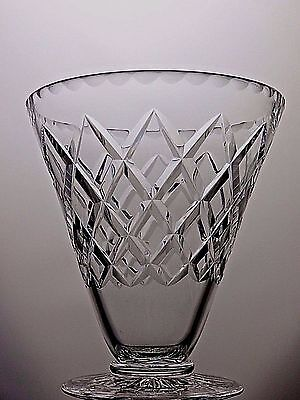 """Large Royal Brierley Lead Crystal Westminster Cut Glass Vase-Marked- 7.5"""" Tall"""