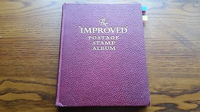 The Improved Postage Stamp Album : British Colonies & World -850 Used Stamps.