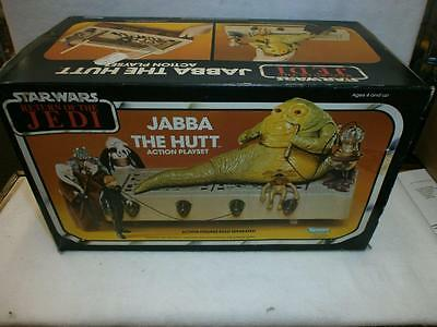 Vintage Star Wars Rotj Jabba The Hutt Playset Boxed Complete Kenner 1983