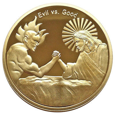 Good vs Evil Good Luck Casino Poker Texas Holdem Card Guard Chip Protector