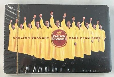Vintage Sealed Carlton Draught Beer United Breweries Playing Cards Man Cave