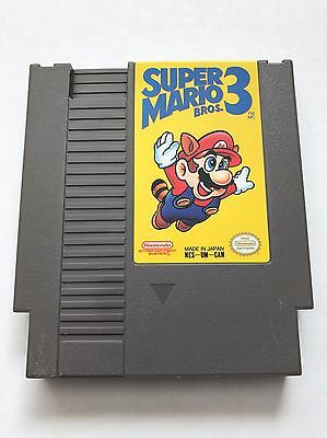 Super Mario Bros 3 (Nintendo Entertainment System NES, 1990) Cleaned & Tested