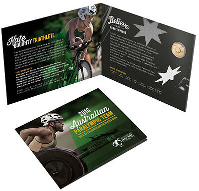 2016 Australian Paralympic Coloured Two dollar $2 Uncirculated Coin in folder