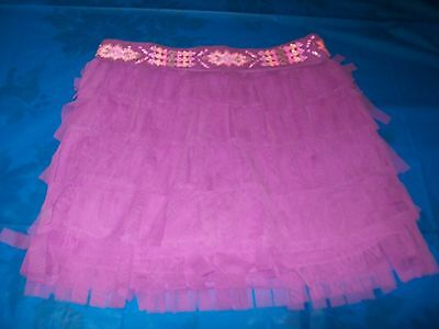 Justice Purple Layered Fringe Skort Size Girls 10