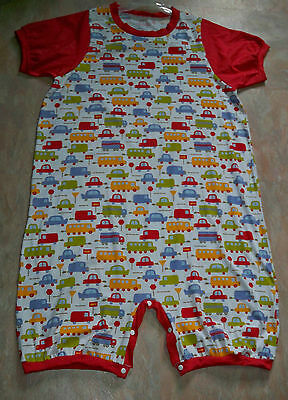 """ADULT BABY 45.5"""" Cotton Jersey Knit Romper, w/ Vehicles , By  KT"""