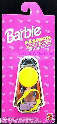 Barbie Fashion Extras For Big Fun Let's Go To The Beach Accessories NIB