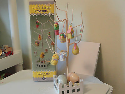Vintage Little Easter Treasures Easter Tree w Ornaments by Russ