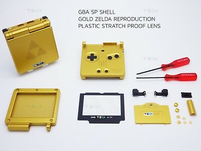 Nintendo Gold Zelda Shell Game Boy Advance SP Replacement Housing GBA case shell