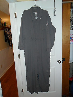 New Without Tags Men's Gray Bulwark FR Flame Resistant Coveralls Size 50R