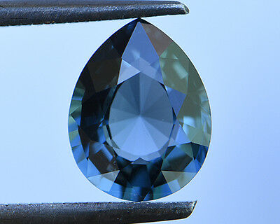 2.56 Cts Certified Natural Unheated Pear Cut Ceylon Blue Spinel Gemstone