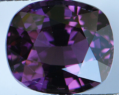 3.06 Cts Certified Natural Unheated Cushion Cut Ceylon Violet/purple Spinel Gems