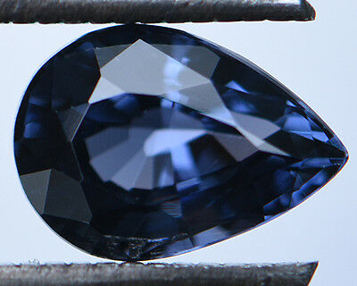 1.44 Cts Certified Natural Unheated Pear Cut Ceylon Blue Spinel Gemstone