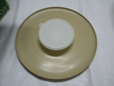 Vintage Tupperware Chip & Dip Serving Tray with Bowl Retro Party Tray