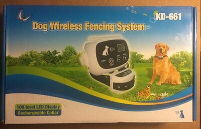 Wireless Pet 2 Dog Fence No-Wire Training Containment System Collar Rechargeable