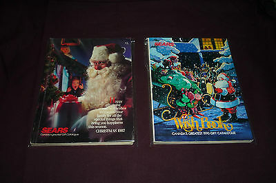 AMAZING 1987 & 1990 SEARS CANADA Wish Books Transformers LJN WWF NES TMNT & MORE