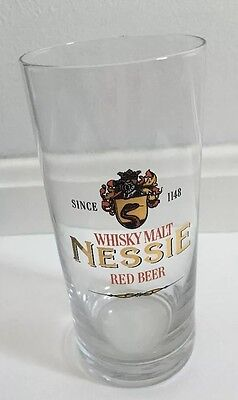 Mac Queen's Nessie Tumbler Glass Collectible Whiskey Malt Red Beer