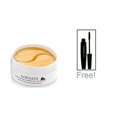 Lohasys Snail Active Hydro Gel Eye Patch 100g + Free Gift The Faceshop Mascara