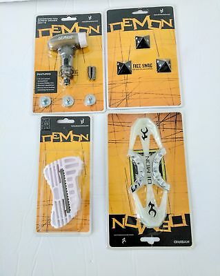 DEMON Snowboard Screwdriver Set Edge Turner Stomp Pad Traction LOT 4 pcs Ast A