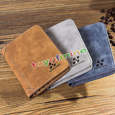 Fashion Men Leather Credit Card Holder Wallet Bifold ID Cash Purse Clutch purse