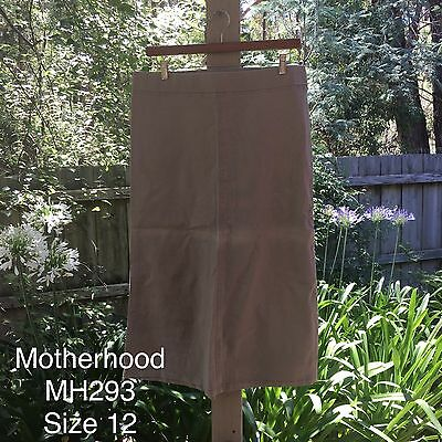 New Women's Motherhood Maternity Skirt, Long, Beige/khaki, Size 12