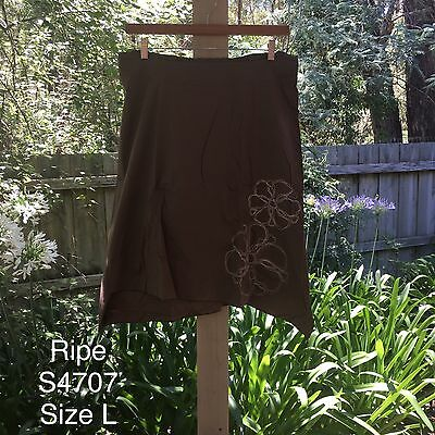 New Women's Ripe Maternity Skirt, Khaki, Size L