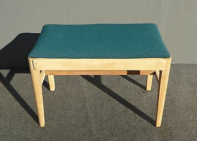 Vintage Mid Century Solid Wood Turquoise Bench RUSSELL WRIGHT Stardust