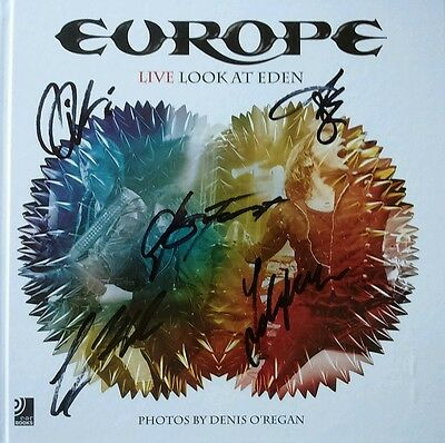 EUROPE ALL MEMBERS LIVE LOOK AT EDEN LTD. 2CD's+DVD+BOOK HAND SIGNED AUTOGRAPHED