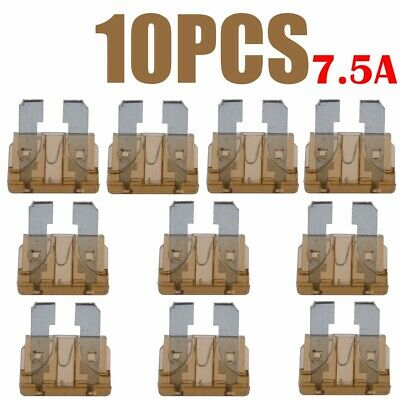10 x 7.5A Color Coded Standard Blade Fuse Assorted for Auto Car Truck Boat new